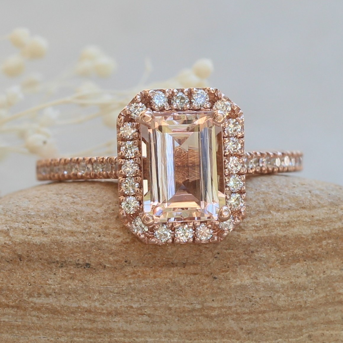 Classic-Emerald-Cut-Morganite-and-Diamond-Cathedral-Engagement-Ring-Helena-Collection