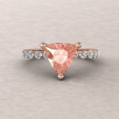 ada 8mm trillion morganite engagement ring half eternity diamond 14k rose gold ls5878