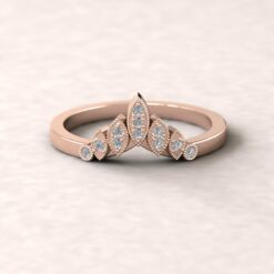 eloise crown wedding band diamond 14k rose gold ls5850