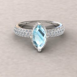 adeline aquamarine 10x5mm marquise diamond half eternity micro pave 14k white gold ls5286