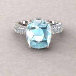 adeline aquamarine 11x9mm rectangular cushion diamond half eternity micro pave 14k white gold ls5918
