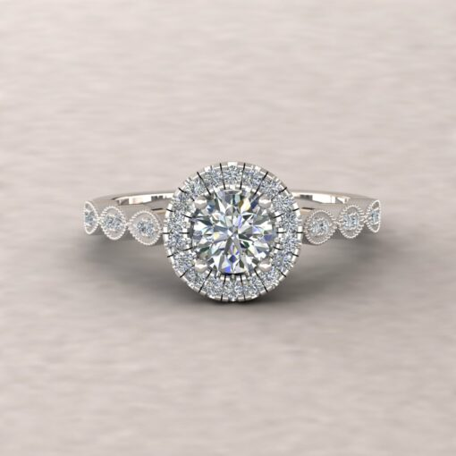 eloise diamond 5mm round half eternity engagement ring 14k white gold ls5670