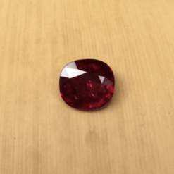 genuine pigeon blood red ruby 8x7mm rectangular cushion 2 carats gia certified LSG480