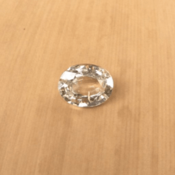 natural white sapphire 8x6mm oval cut LSG264