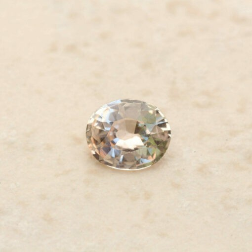 genuine loose champagne peach sapphire 7x6mm oval cut 1.05 carats LSG750