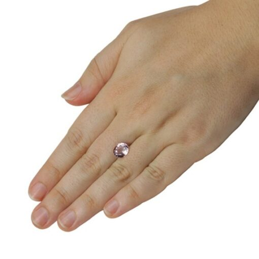 genuine loose pink sapphire 9.5x8mm oval cut 3.1 carats GIA certified LSG460