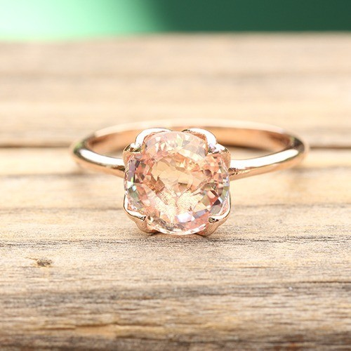 Peach-Sapphire-Solitaire-Engagement-Ring-in-14k-rose-gold-by-Laurie-Sarah-1